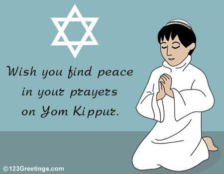Praying On Yom Kippur  Free Yom Kippur eCards, Greeting