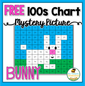{FREE} Easter Bunny Hundreds Chart Mystery Picture