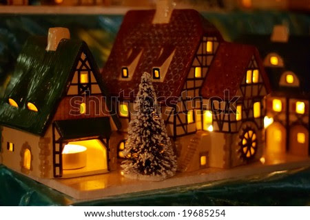 Christmas Candle Houses Stock Photo 19685254 : Shutterstock
