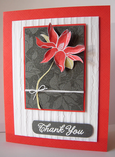 Flower ATC on card