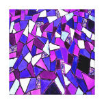 Purple Blue Abstract Mosaic Canvas Print