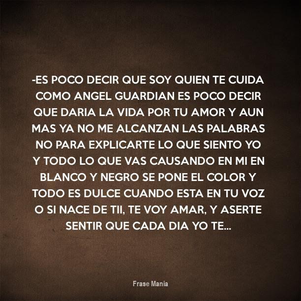Cartel Para Es Poco Decir Que Soy Quien Te Cuida Como Angel