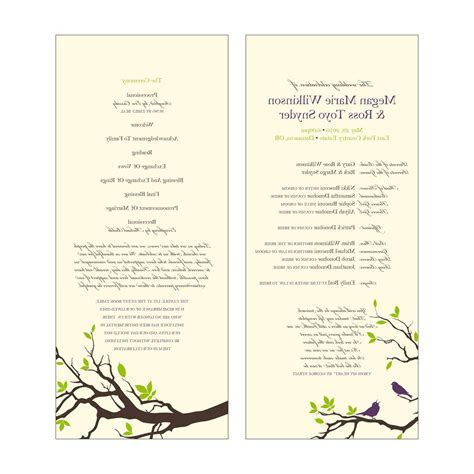 Ilona's blog: wedding program templates free