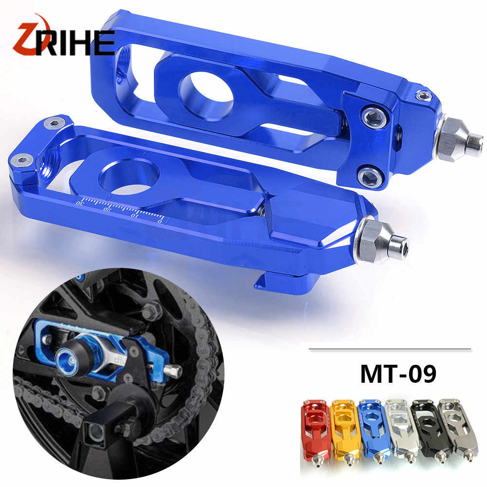 Motorcycle Cnc Rear Axle Spindle Chain Adjuster Block Tensioners For Yamaha Mt 09 Mt09 Fz09 Fj09 Tracer 2013 2017 2016 2015 2014