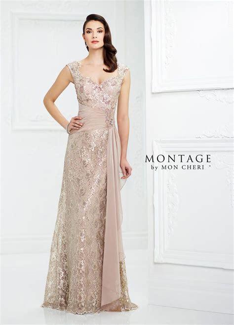 Montage by Mon Cheri 217954 Metallic Lace MOB Dress