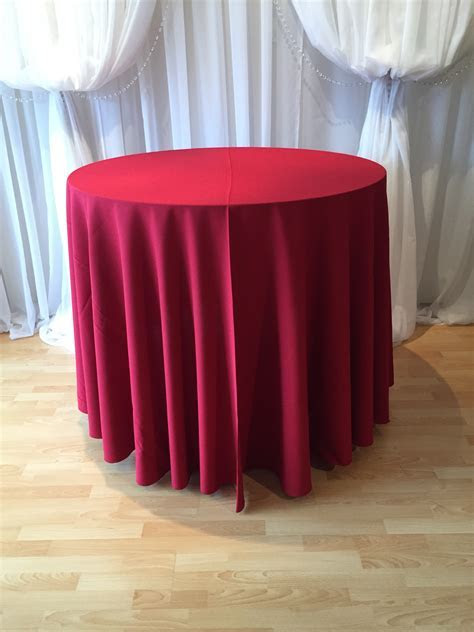 Chair Decor » Red Polyester Tablecloth