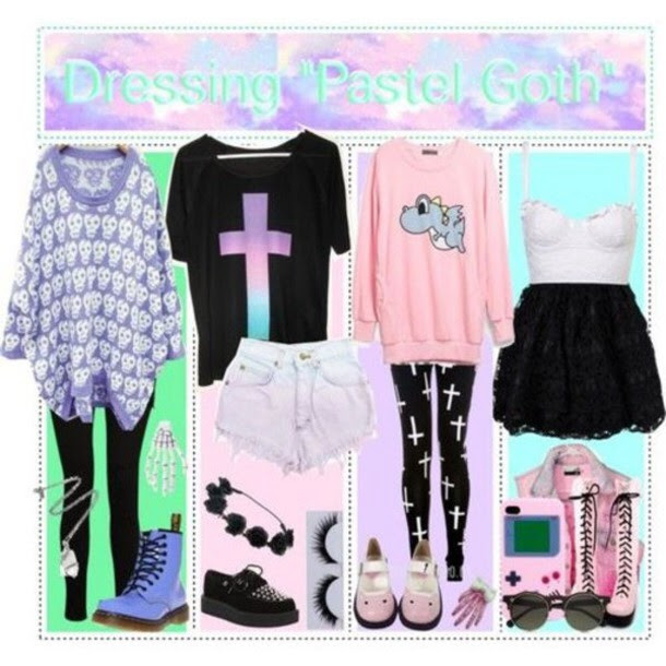 Pastel Goth Outfit Ideas pastel 36973400 610 610