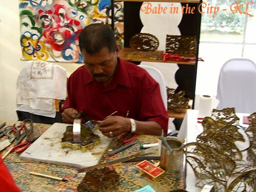 This man is moulding the batik mould