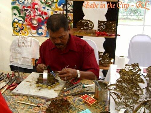This man is moulding the batik mould