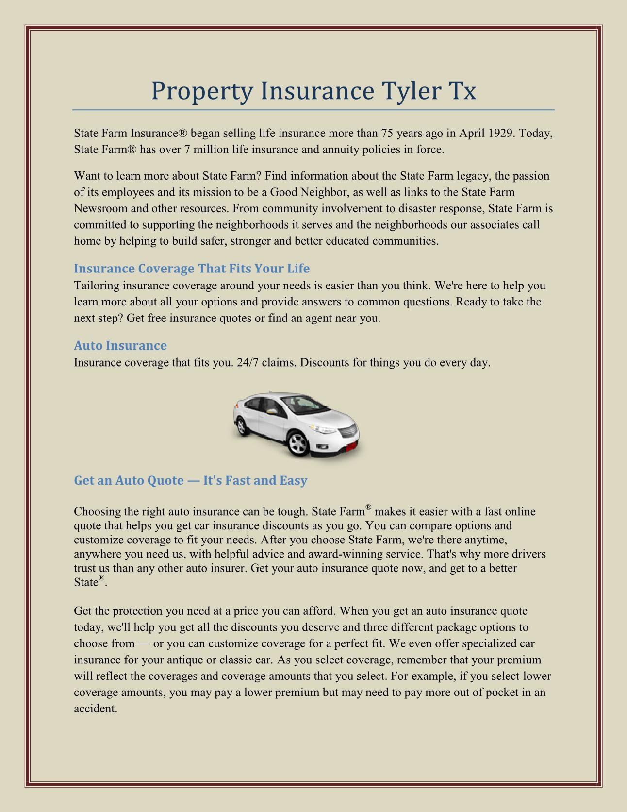 State Farm Car Insurance Quote Texas