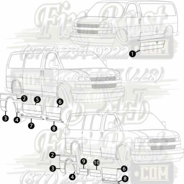 34 Chevy Express 3500 Parts Diagram