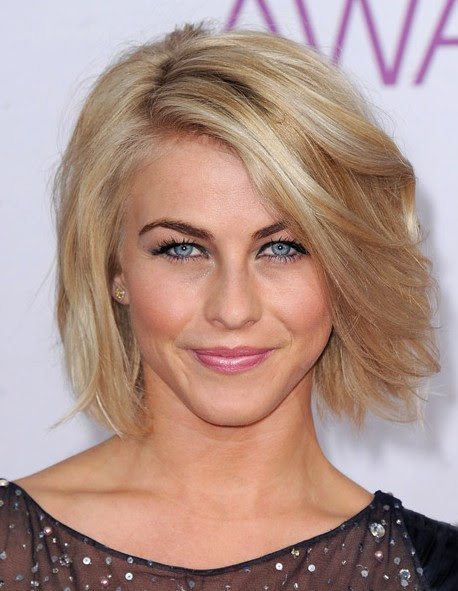 Bob Hairstyle With Side Swept Bangs Julianne Hough Hairstyles 2015