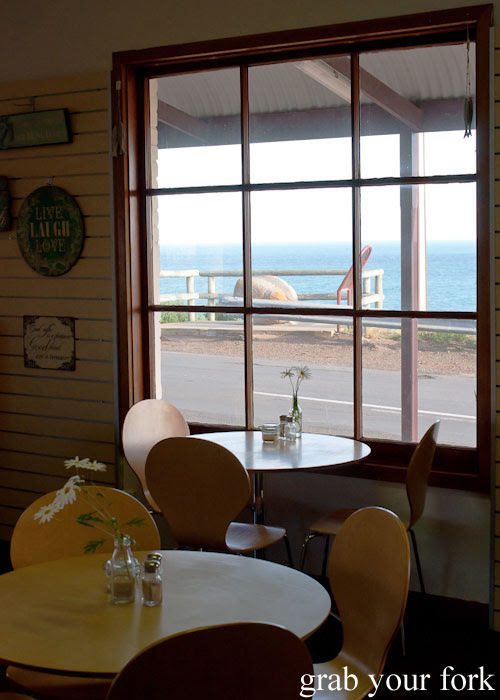 Breakfast with a view at Sea Spray Cafe, Penneshaw, Kangaroo Island