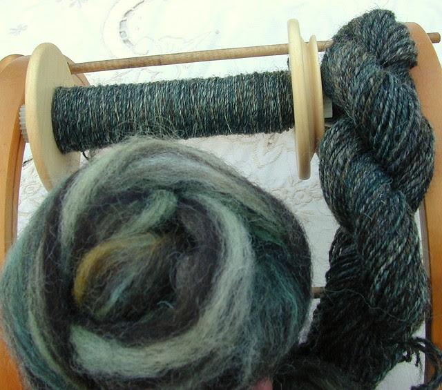 Tendrils socks in process