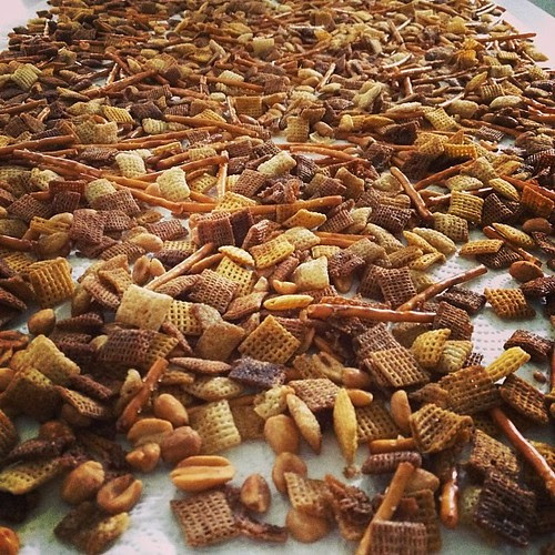 Made grandma's chex mix today ... Always means that it's fall