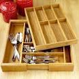 Bamboo Flatware Organizers | Kitchen Accessories| Kitchen & Dining ...