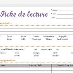 Fiche De Lecture D Un Livre Exemple - Exemple de Groupes