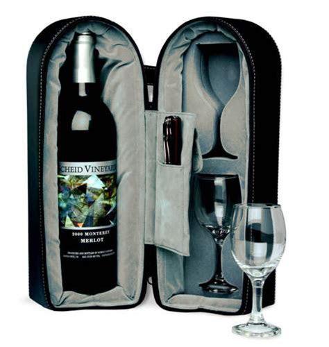 Dual Wine Cup & Bottle Travel Carry Case: HansonEllis.com