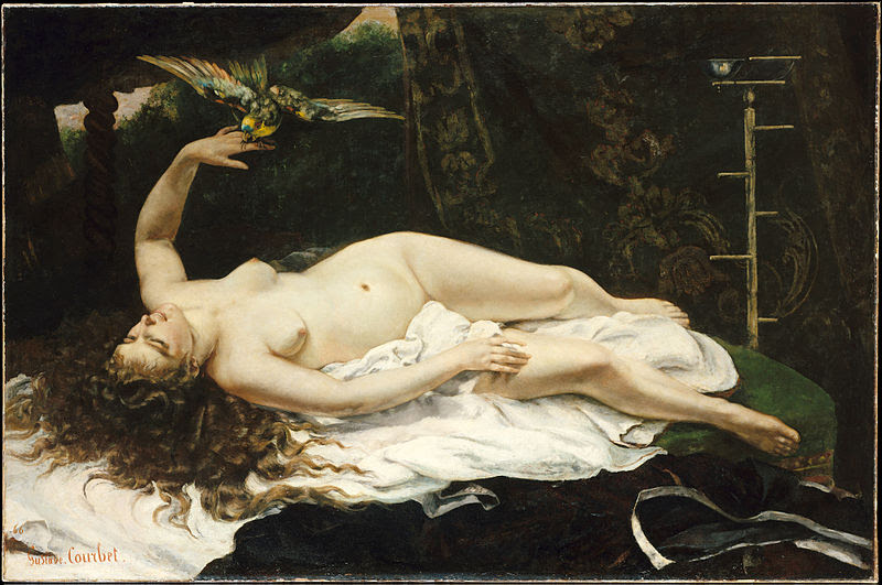 1866 Gustave Courbet - Woman with a Parrot