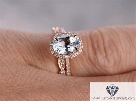 Oval Cut Aquamarine Diamond Pave Halo Engagement Ring