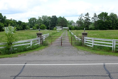 The Elsie Stevens property, being developed as a park.