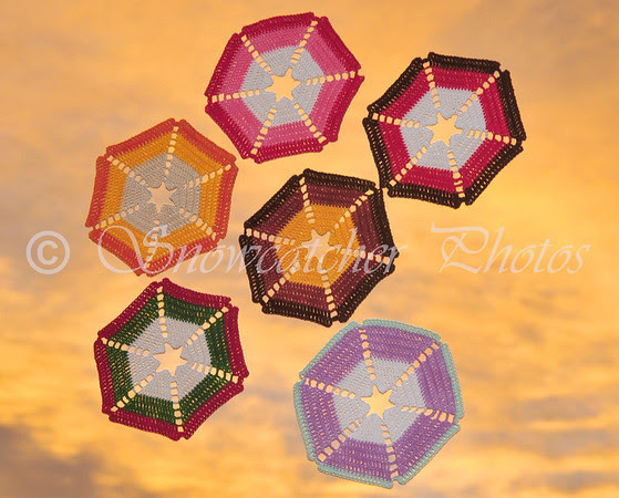 October Candy Corn Snowflake Sunrise