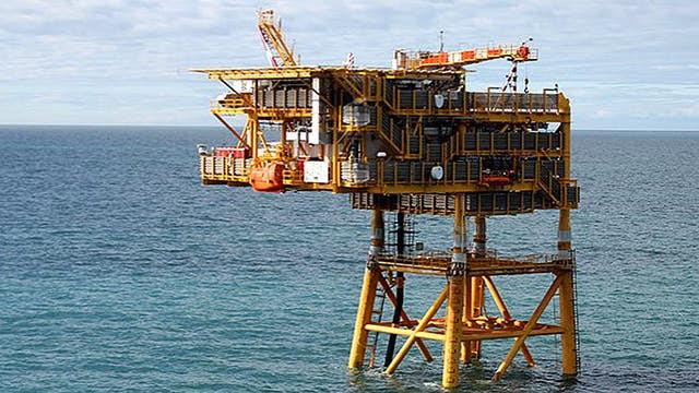Una plataforma de Total Austral, en la zona cercana a Tierra del Fuego
