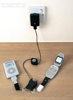 Charge your iPod and mobile simultaneously