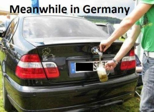 Car with a beer tap!