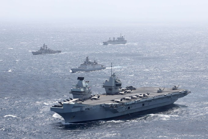 UK carrier group conducts exercise with India in strategic signal to China