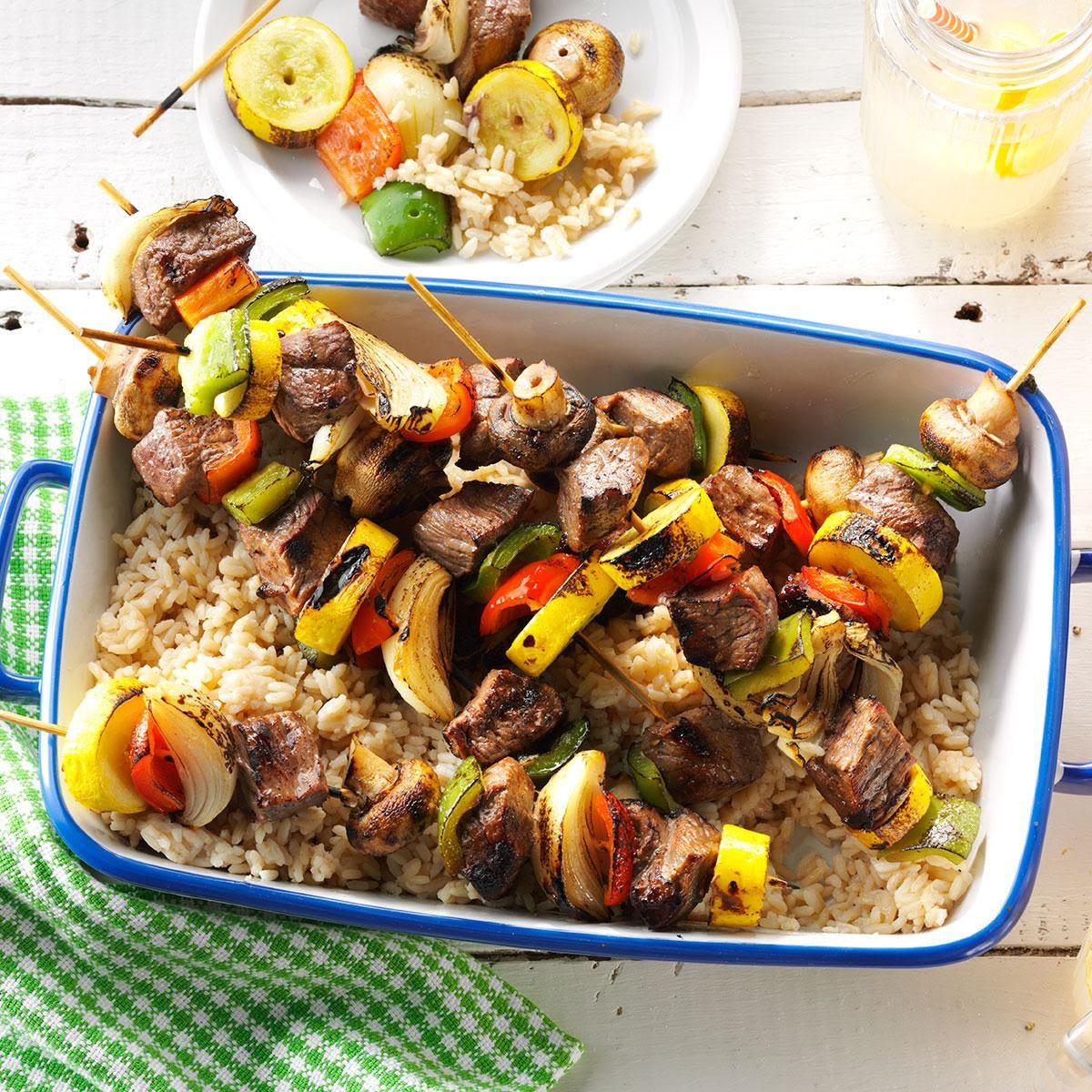 Summer Steak Kabobs Recipe | Taste of Home