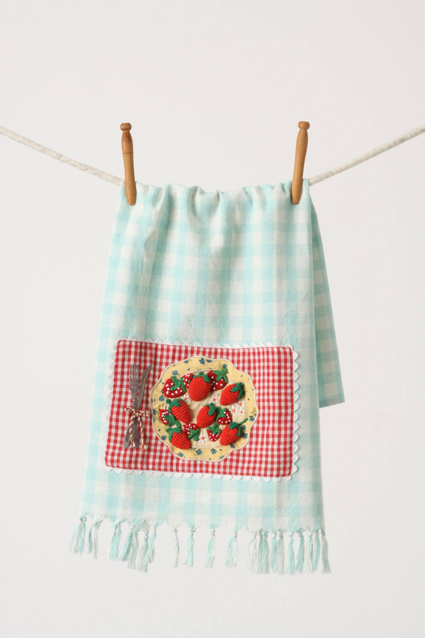 First Eats Dishtowel, Strawberries & Blooms | Image Courtesy of Anthropologie