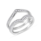 1/2ct Round Diamonds Ring Guard Wrap 14k White Gold
