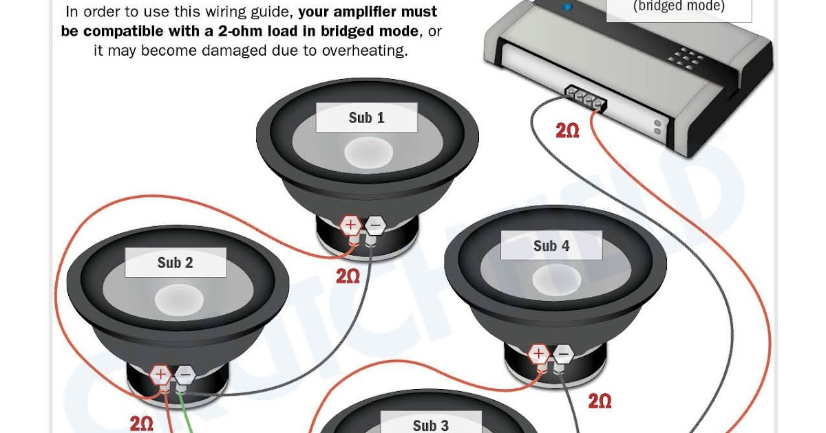 4 ohm single voice coil wiring