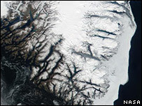 Much of the ice is being lost from southeast Greenland
