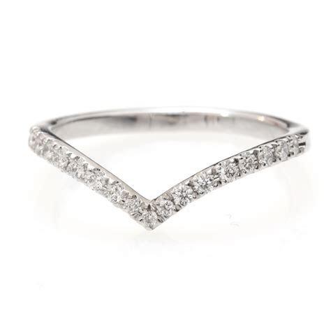 Chevron Diamond V Ring, Diamond V Ring with Pave Diamonds