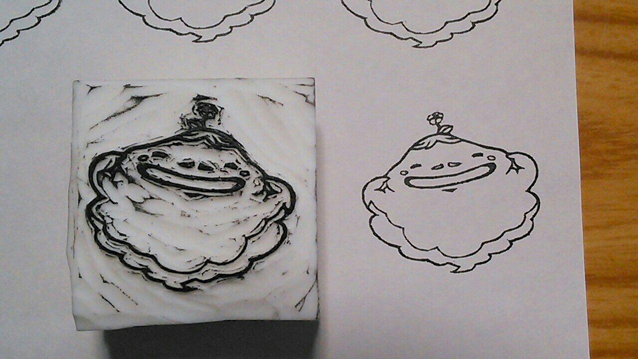 消しゴムはんこ彫ってみた 妖怪ウォッチ ホノボーノ 男児母の趣味ブログ