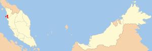 Location of Penang