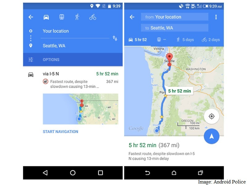 Google Maps For Android Update Brings New Navigation Ui