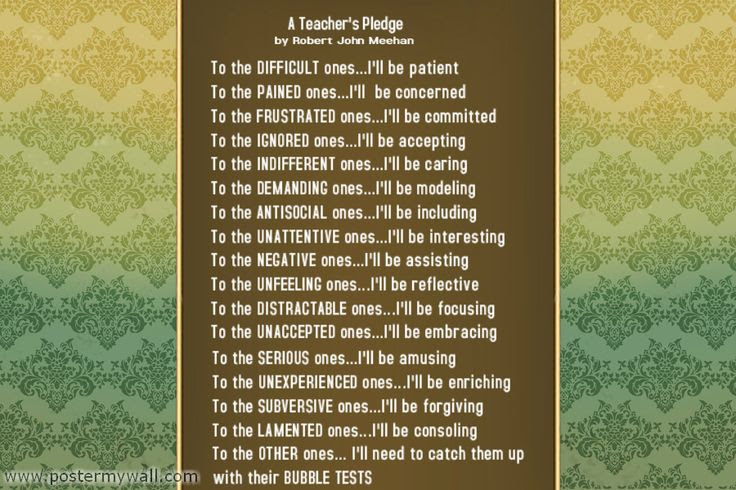 A Teacher's Pledge by Robert John Meehan