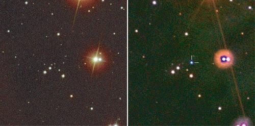 Image of the oddball gamma ray burst.