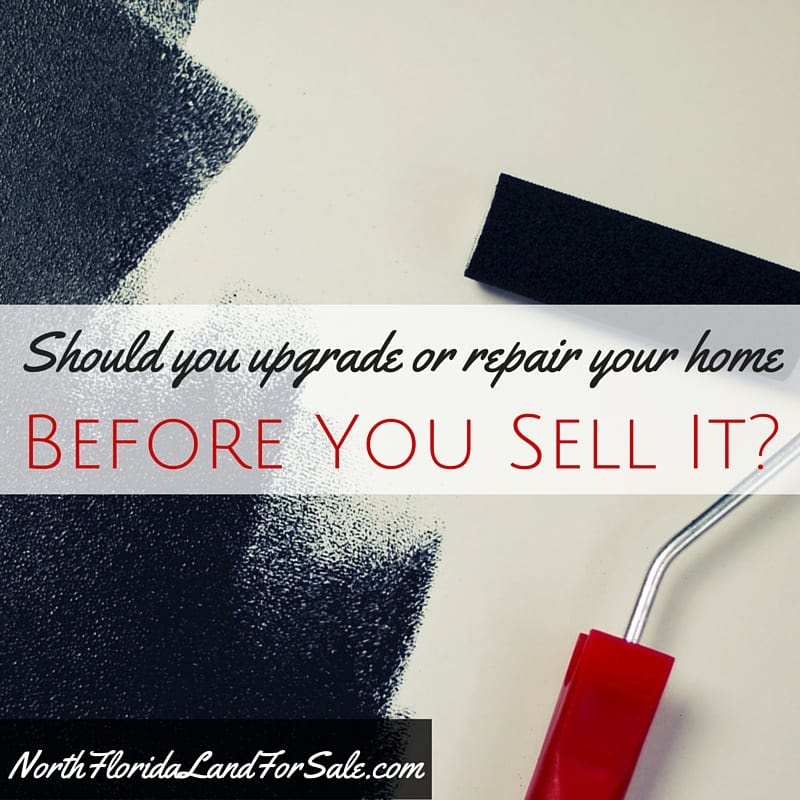 should you upgrade or repair before you sell sell house lake city