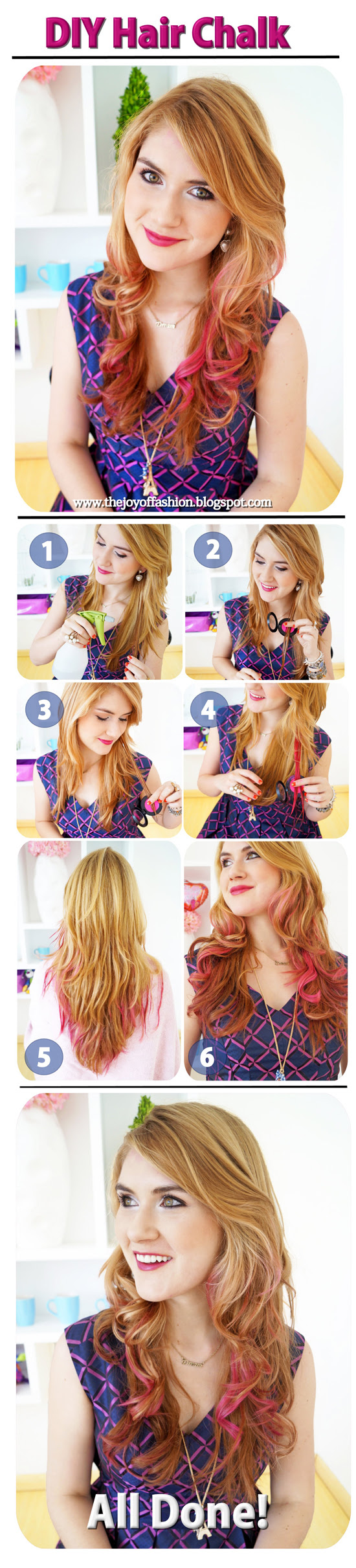How to: Pink hair chalk Tutorial