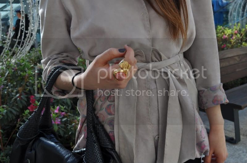 arty ring ysl fendi leather trench