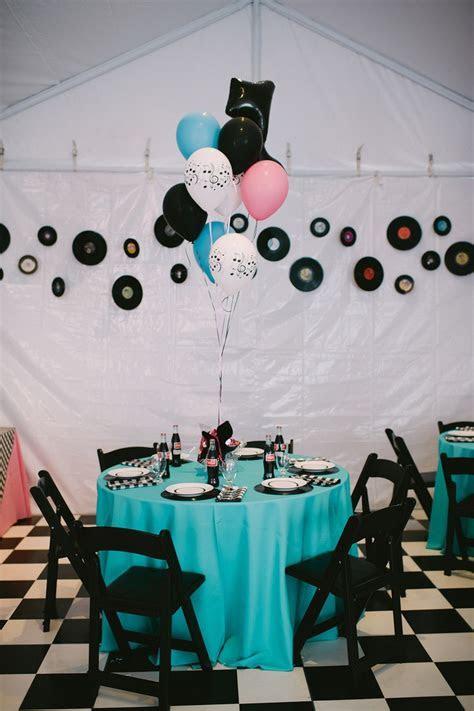 Wedding / Event Tablescape: 1950's Theme   ( 1950's Party