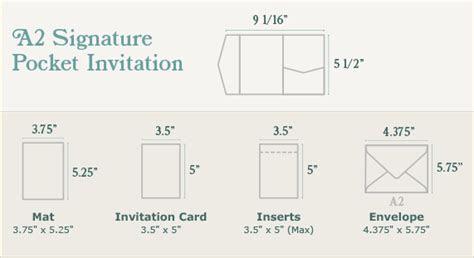 A2 Signature Pocket Invitation   Onyx