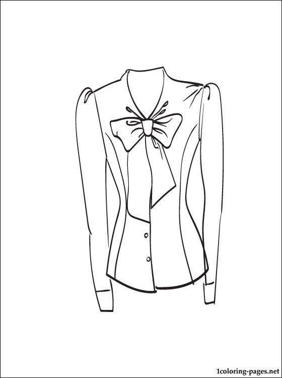 Download Blouse coloring and printable page   Coloring pages