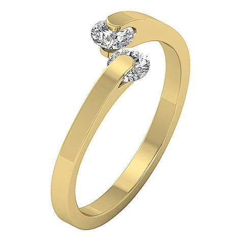 Open Solitaire Engagement Ring I1 H 0.55Ct Round Diamond 8