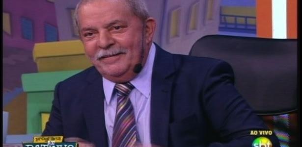 Ex-presidente Luiz Inácio Lula da Silva participa do Programa do Ratinho, no SBT, em São Paulo