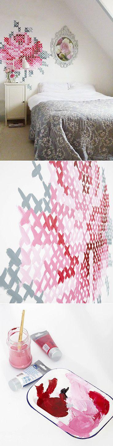 Punto de cruz de la pared por Eline Pellinkhof Pintado